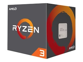 AMD Processor, Ryzen 3 QC 1300X 3.5GHz 3.7GHz Turbo 8MB Cache 65W 2667MHz, YD130XBBAEBOX, 34359329, Processor Upgrades