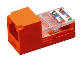 Panduit Mini-Com Mini-Jack Module, Cat5e, UTP, 8 pos 8 wire, Universal, Orange, CJ588ORY, 12357200, Premise Wiring Equipment