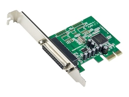 Syba 1-Port Parallel DB25 PCIe x1 Card, SY-PEX10008, 34157786, Controller Cards & I/O Boards