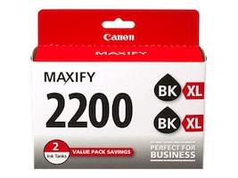 Canon Black PGI-2200XL Ink Cartridges (Twin Pack), 9255B006, 18954937, Ink Cartridges & Ink Refill Kits - OEM