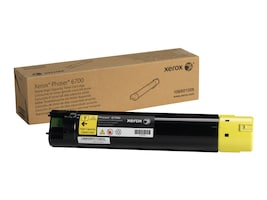 Xerox Yellow High Capacity Toner Cartridge for Phaser 6700 Series Printers, 106R01509, 13355409, Toner and Imaging Components