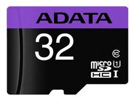 A-Data 32GB UHS-I U3 V30S MicroSDHC Card with SD Adapter, AUSDH32GUI3V30SA1-RA1, 36587801, Memory - Flash