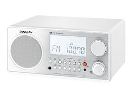 Sangean WR-2 WHITE Main Image from Right-angle
