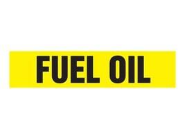 Panduit Self Stick Pipe Marker, Fuel Oil, Yellow, Size B, PPMA1237B, 36031546, Tools & Hardware