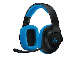 Logitech G233 Prodigy Wired Gaming Headset - Black Cyan, 981-000701, 34201281, Headsets (w/ microphone)