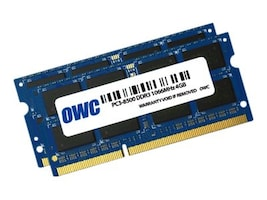 Other World 8GB PC3-8500 204-pin DDR3 SDRAM SODIMM Kit, OWC8566DDR3S8GP, 35019570, Memory