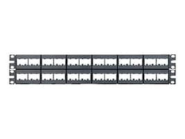 Panduit Mini-Com Modular Faceplate Patch Panel, 48-Port, CPP48WBLY, 435558, Patch Panels