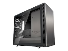 Fractal Design Chassis, Define R6 Gunmetal TG 6x3.5 bays 2x2.5 bays 9xExp. slots, FD-CA-DEF-R6-GY-TG, 34985101, Cases - Systems/Servers