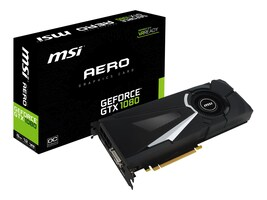 Microstar GeForce GTX 1080 PCIe 3.0 x16 Graphics Card, 8GB GDDR5X, GTX 1080 AERO 8G  OC, 32308237, Graphics/Video Accelerators