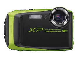 Fujifilm FinePix XP90 Waterproof WiFi Camera, 16.4MP, 5x Zoom, Lime, 16500208, 31271575, Cameras - Digital - Point & Shoot