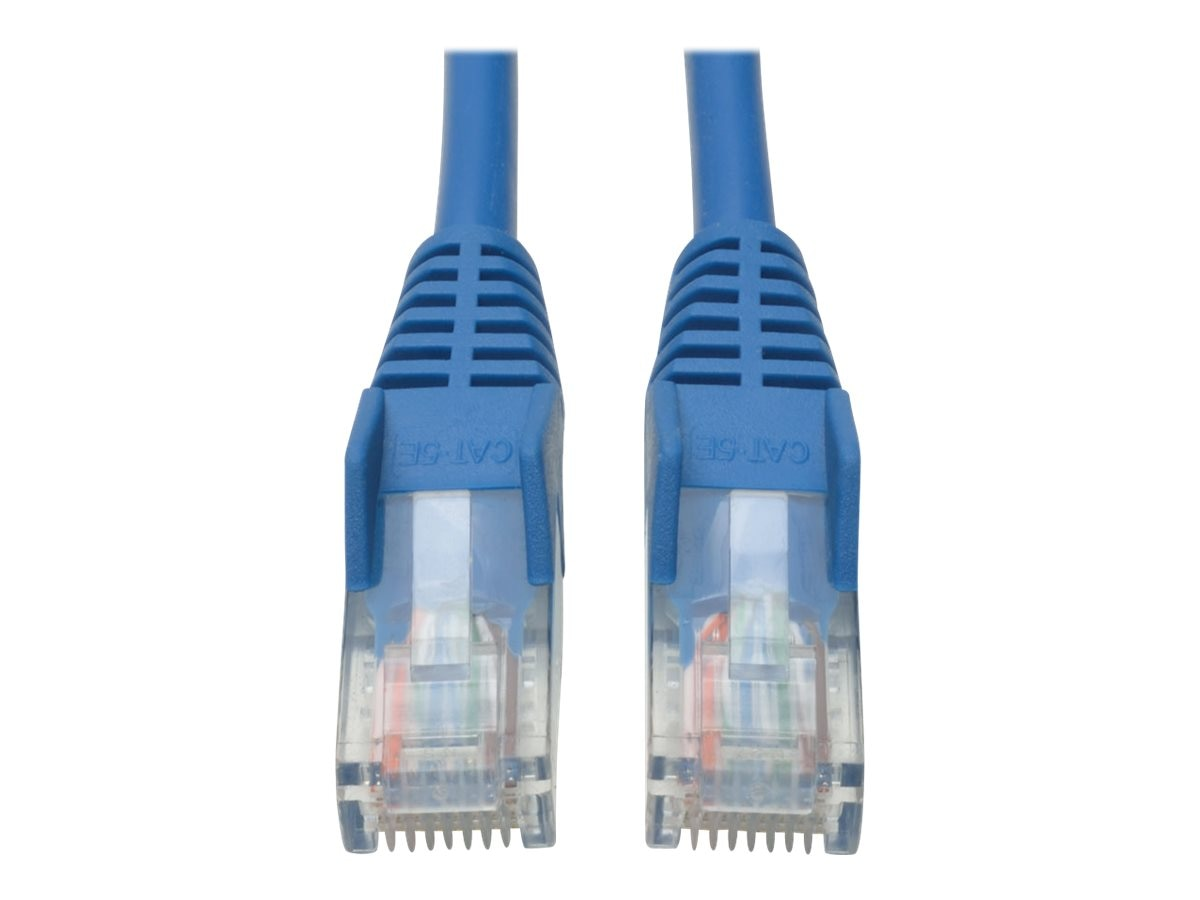 Tripp Lite Cat5e RJ-45 M M Snagless Molded Patch Cable, Blue, 3ft, N001-003-BL, 285982, Cables