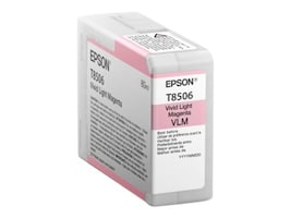 Epson Light Magenta UltraChrome HD 80ml Ink Cartridge for SureColor P800, T850600, 24514444, Ink Cartridges & Ink Refill Kits