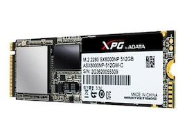 A-Data 512GB XPG SX8000 PCIe NVME M.2 2280 Internal Solid State Drive, ASX8000NP-512GM-C, 33517516, Solid State Drives - Internal