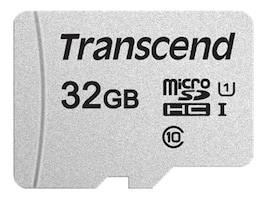 Transcend 32GB 300S UHS-I microSDHC Memory Card with SD Adapter, TS32GUSD300S-A, 36725839, Memory - Flash