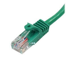 StarTech.com CAT5e Snagless UTP Ethernet Cable, Green, 15ft, 45PATCH15GN, 10040524, Cables