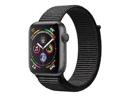 Apple Watch Series 4 GPS, 44mm Space Gray Aluminum Case, Black Sport Loop, MU6E2LL/A, 36142297, Wearable Technology - Apple Watch Series 4