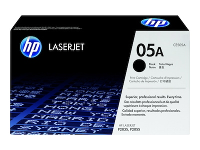 HP 05A (CE505A) Black Original LaserJet Toner Cartridge, CE505A, 8929025, Toner and Imaging Components - OEM