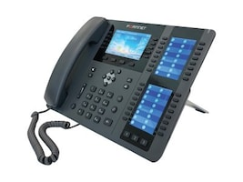 Fortinet HIGH END IP PHONE W  4.3 & DUALPERP3.5 COLOR SCREEN 96PROGRAM KEY, FON-575, 37697850, VoIP Phones