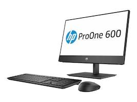 HP ProOne 600 G4 AIO Pentium Gold G5400 3.7GHz 4GB 500GB UHD630 DVD-W ac BT 1xDP WC 21.5 FHD W10P64, 4JE00UT#ABA, 35800542, Desktops - All-in-One