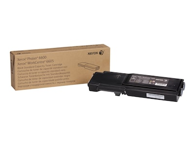 Xerox Black Standard Capacity Toner Cartridge for Phaser 6600 & WorkCentre 6605 Series, 106R02244, 14736297, Toner and Imaging Components - OEM