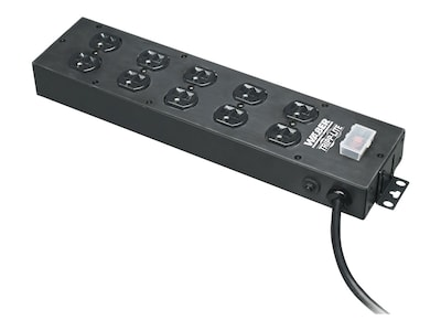 Tripp Lite Power Strip Multiple Outlet Relocatable Power Tap 15A (10) Outlet, UL800CB-15, 6703735, Power Strips
