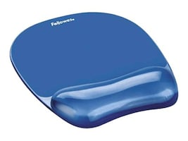 Fellowes Blue Crystal Mouse Pad, 91141, 454236, Ergonomic Products
