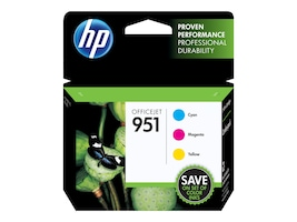 HP 951 (CR314FN) 3-pack Cyan Magenta Yellow Original Ink Cartridges, CR314FN#140, 12974339, Ink Cartridges & Ink Refill Kits