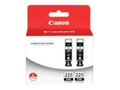 Canon Black PGI-225 Ink Tanks (Twin Pack), 4530B007, 11647184, Ink Cartridges & Ink Refill Kits - OEM