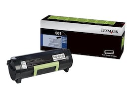 Lexmark 501 Black Return Program Toner Cartridge, 50F1000, 14909223, Toner and Imaging Components