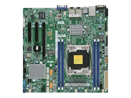 Supermicro Motherboard, X10SRM-TF Micro ATX C612 (2x)E5-2600 v4 Family Max.512GB DDR4 10xSATA 3xPCIe 2x10Gb, MBD-X10SRM-TF-O, 31935790, Motherboards