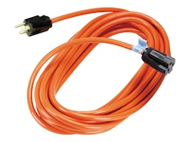 Black Box Indoor Outdoor Single-Outlet Power Cord, 14 3 Grounded, Orange, 15ft., EPWR30, 32877801, Power Cords