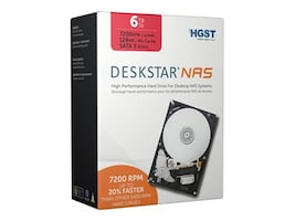 HGST 6TB Deskstar NAS SATA 6Gb s 3.5 Internal Hard Drive, 0S03839, 18103008, Hard Drives - Internal