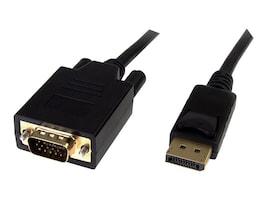 4Xem DisplayPort to HDDB15 VGA M M Cable, Black, 6ft, 4XDPMVGAMCBL, 16922270, Cables