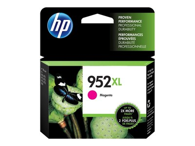 HP 952XL (L0S64AN#140) Magenta Original Ink Cartridge, L0S64AN#140, 31583501, Ink Cartridges & Ink Refill Kits