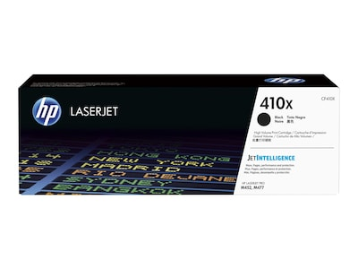 HP 410X (CF410X) High Yield Black Original LaserJet Toner Cartridge w  JetIntelligence, CF410X, 30686040, Toner and Imaging Components - OEM
