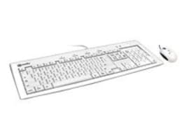 Macally iKey Slim Combo - USB Slim Keyboard with 2-Port USB Hub and Optical Game Mouse, IKEY5COMBO, 5862929, Keyboard/Mouse Combinations