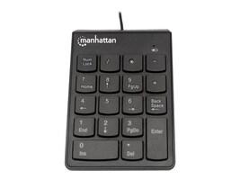 Manhattan 19-Key USB Numeric Keypad Win 2000 XP Vista 7,  Black, 176354, 16297726, Keyboards & Keypads