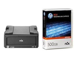 HPE RDX+ 500GB External Disk Backup System, B7B66B, 26004886, Removable Drives