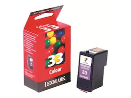 Lexmark #33 Color Ink Cartridge for X5250, 5270 & Z816 Printers, 18C0033, 4875154, Ink Cartridges & Ink Refill Kits