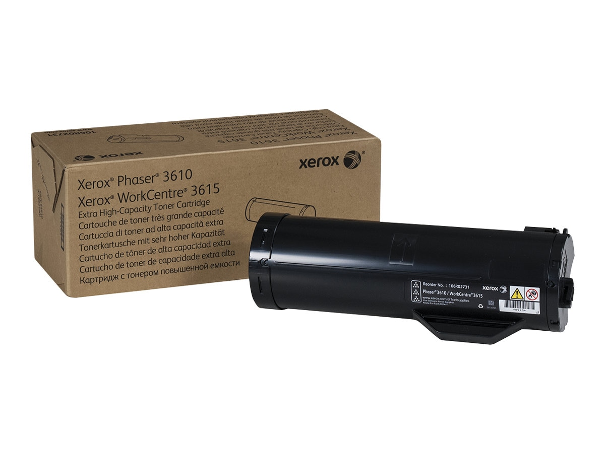Xerox Black Extra High Capacity Toner Cartridge for 3610 3615, 106R02731, 16179990, Toner and Imaging Components