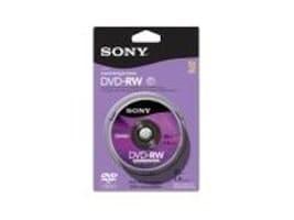 Sony 30M Camcorder DVD-RW Media (10-pack), 10DMW30RS2H, 11229433, DVD Media