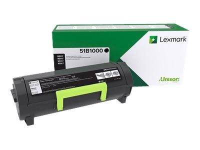 Lexmark Black Return Program Toner Cartridge for MS317dn, MS417dn, MS517dn, MS617dn, MX317dn, MX417de, 51B1000, 34046867, Toner and Imaging Components