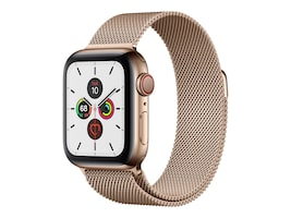 Apple Watch Series 5 GPS+Cellular, 40mm Gold Stainless Steel Case with Gold Milanese Loop, MWWV2LL/A, 37523649, Wearable Technology - Apple Watch Series 4-5