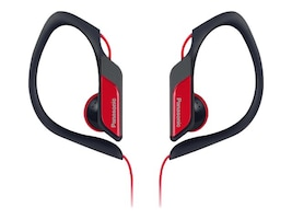 Panasonic HS34 Water Sweat Resistant Sports Clip Earbud - Red, RP-HS34-R, 21085648, Headphones