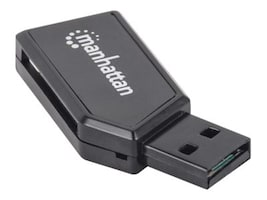 Manhattan Mini USB 2.0 Multi-Card Reader Writer, 101677, 17091965, PC Card/Flash Memory Readers