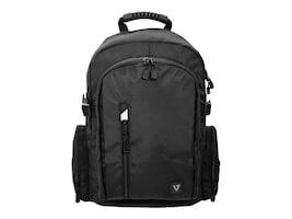 V7 17 Elite Backpack w  Padded Back Support, Black, CBE17-BLK-9N, 34554159, Carrying Cases - Notebook