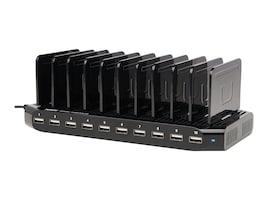 Tripp Lite 10-Port USB Tablet iPhone Charger with Built-In Storage, U280-010-ST, 30930129, Charging Stations
