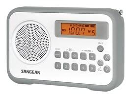 Sangean AM FM Digital Tuning Portable Receiver - Gray, PR-D18GR, 16409134, Clock Radios