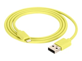 Griffin USB Type A to Lightning M M Cable, Yellow, 3ft, GC39142-2, 32073714, Cables