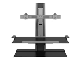Humanscale QuickStand Dual-Display Sit-Stand Workstation with 24 Crossbar, QSBC30FVD, 34035535, Furniture - Miscellaneous
